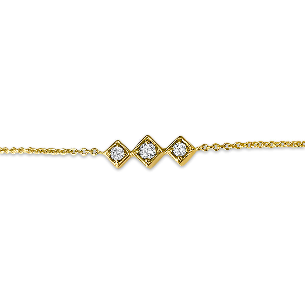 Lex Triple Diamond Motif Bracelet