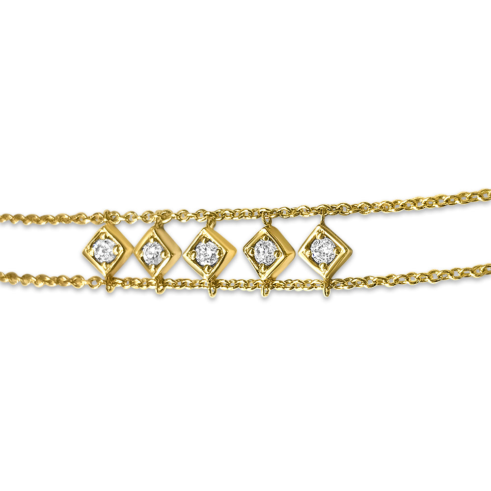 Lex Five Diamond Motif Bracelet