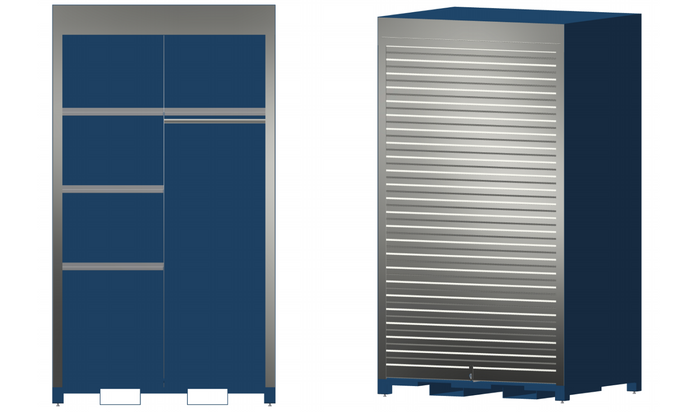 Security Lockers with Roll-Up Doors