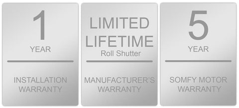 roll shutter installation warranty
