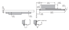 Load image into Gallery viewer, Heavy Duty Low Profile Track Arm Door Closer | LCN 4040xpt diagram