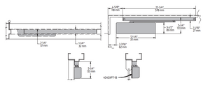 Heavy Duty Low Profile Track Arm Door Closer | LCN 4040xpt diagram