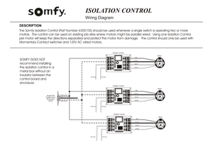 Somfy isolation control wiring diagram