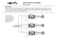 Load image into Gallery viewer, Somfy isolation control wiring diagram