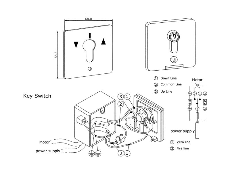 Momentary Key Switch  Waterproof