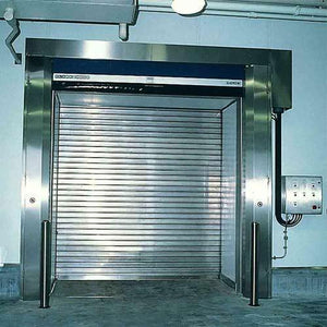 polished stainless steel roller shutters