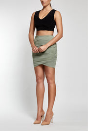 Ruler Ruche Skirt | Seagrass