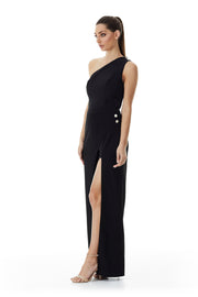 Windsor Wrap Wide-Leg Pant | Black