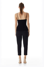 York Skinny Cropped Pant | Black