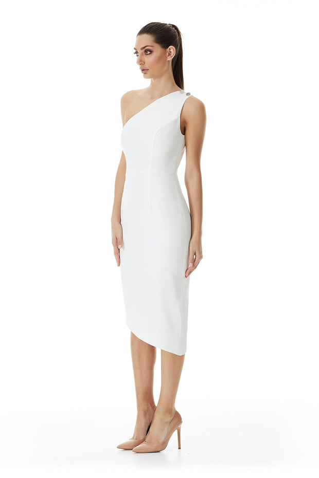 Arabella Asymmetrical Dress | Ivory