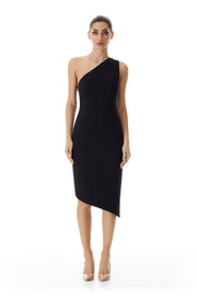 Arabella Asymmetrical Dress | Black