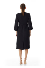 Consort Wrap Coat Dress | Black