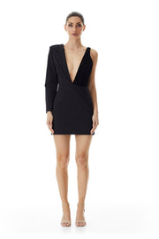 Alexia Lapel Mini Dress | Black