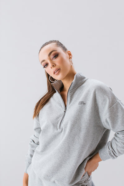 Half Zip Jumper | Grey