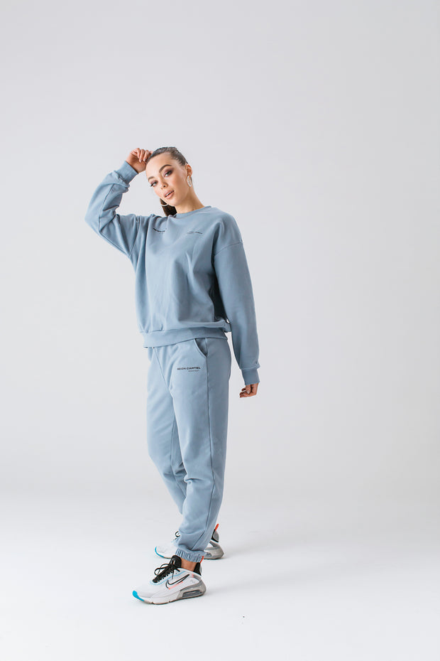 Essential Track Pant | Dusty Blue