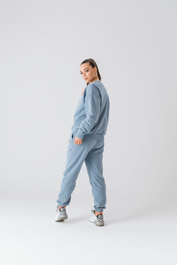 Essential Crew Jumper | Dusty Blue