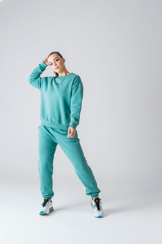 Tess Crew Jumper | Dusty Turquoise