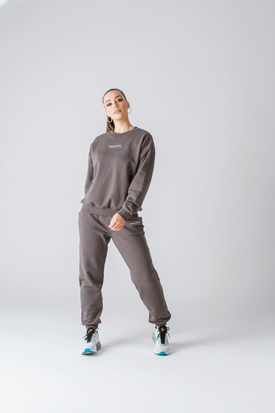 Tess Crew Jumper | Charcoal