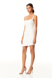 Kinsley Asymmetrical Mini Dress | Ivory