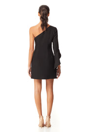 Bettina One Shoulder Mini Dress | Black