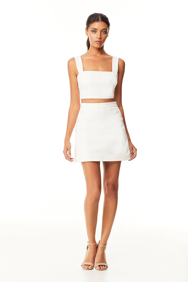 Nissa Mini Skirt | Ivory