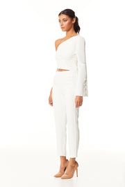 Zeva One Shoulder Crop | Ivory