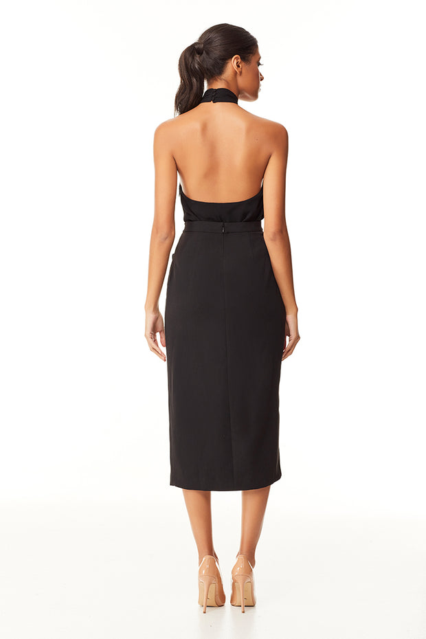 Kensleigh Midi Skirt | Black