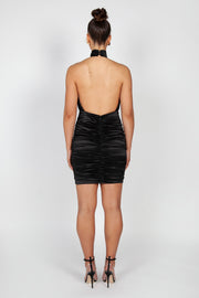 Chloe Halter Mini Dress | Black