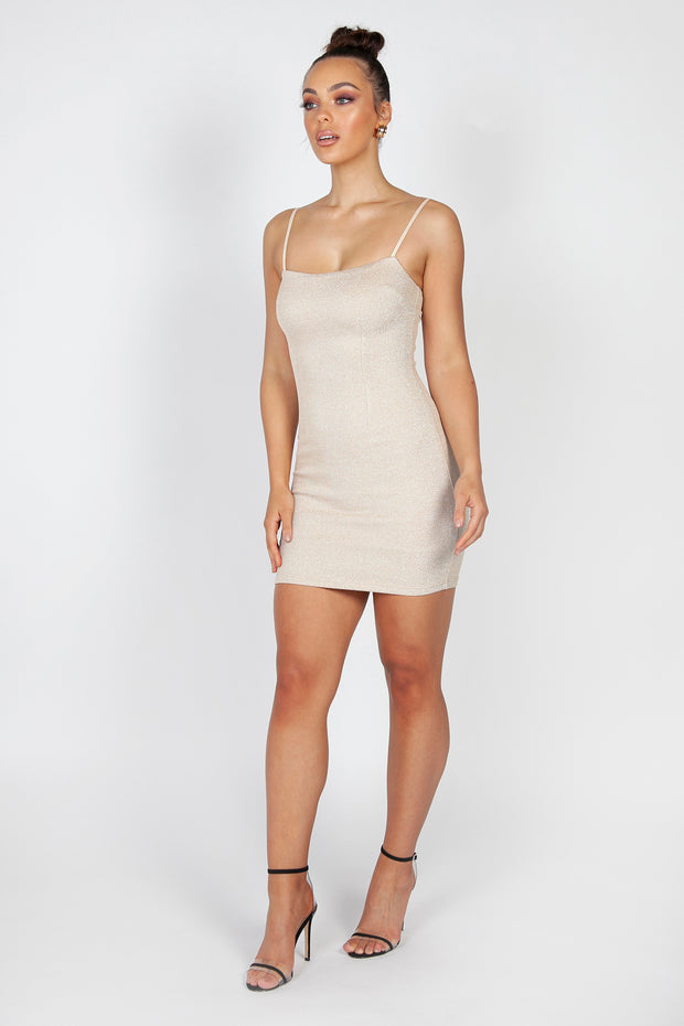 Allix Mini Dress | Gold