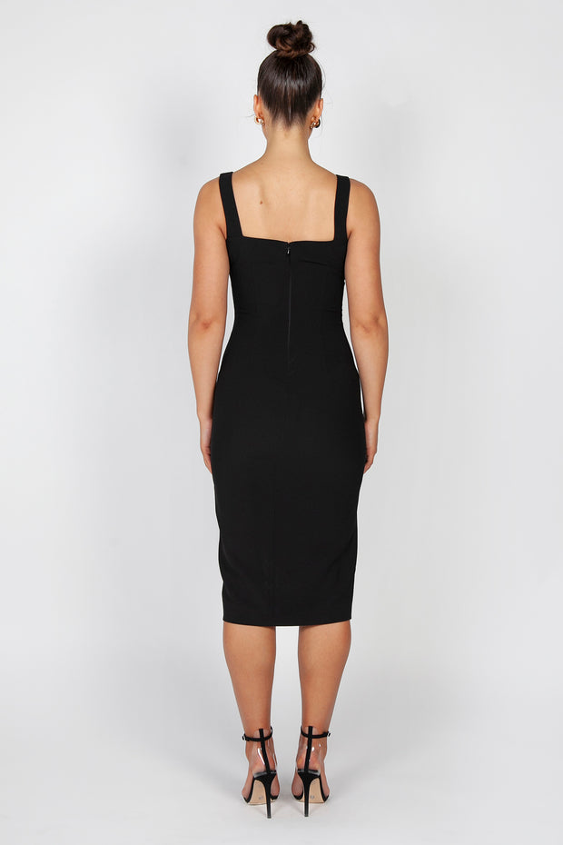 Rosella Midi Dress | Black