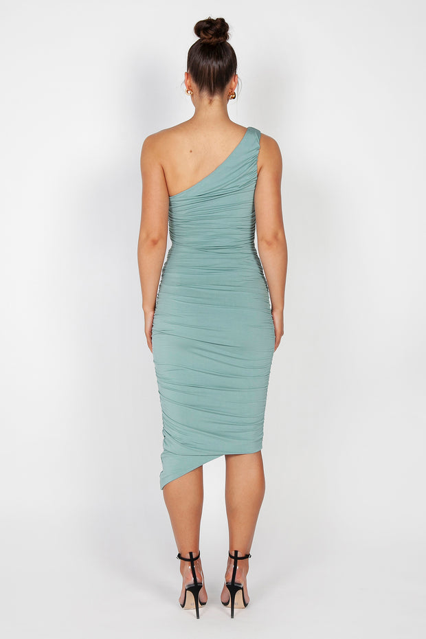 Mila Ruched Midi Dress | Marine