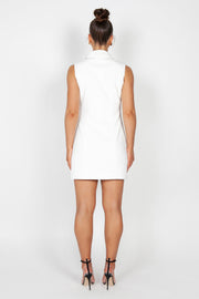 Kourtney Sleeveless Blazer Dress | Ivory
