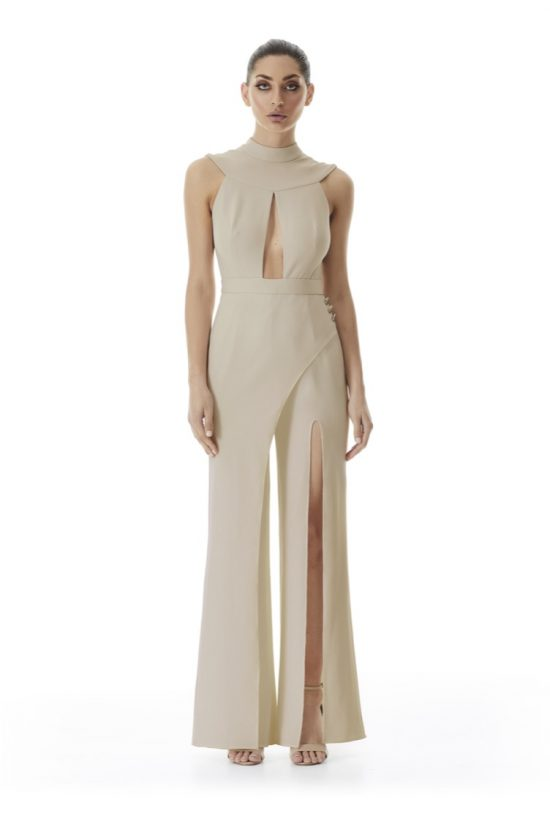 Windsor Wrap Wide-Leg Pantsuit | Latte
