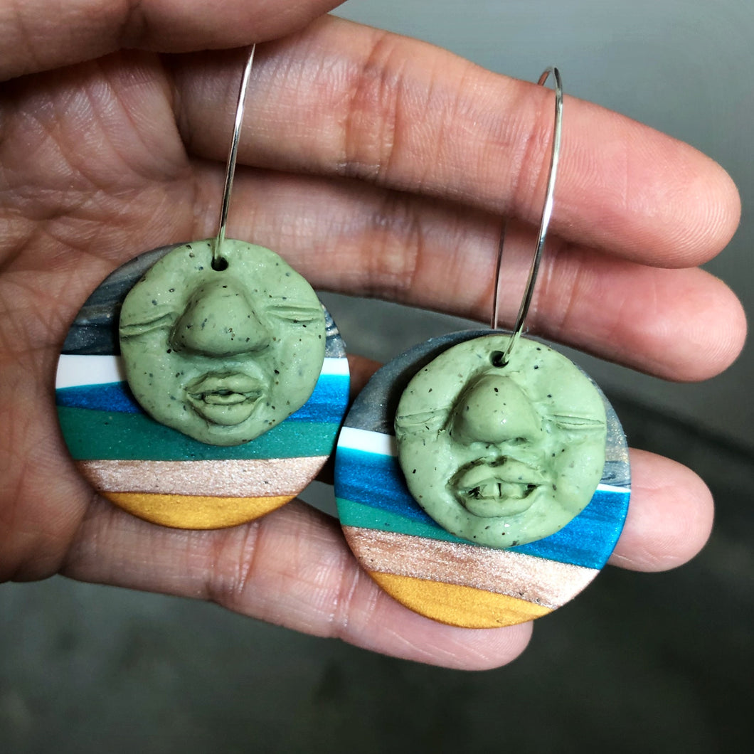 Signature Peep Double Dangles (Holy Guacamole!)