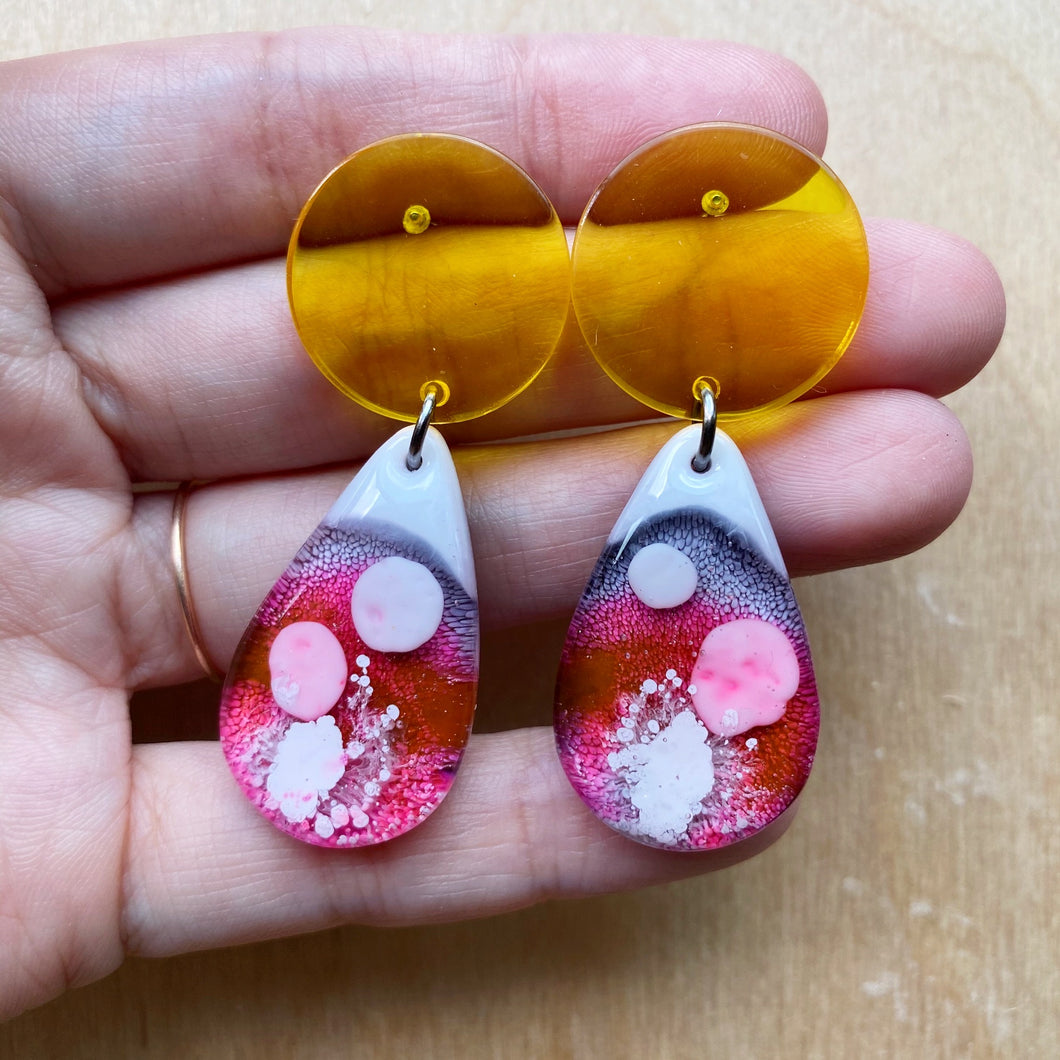 Resin Teardrop Dangles (I Lava Lamp You)