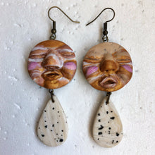 Load image into Gallery viewer, Peeps & Speckled Tear Drop Statement Dangles