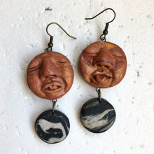 Load image into Gallery viewer, Peeps & Granite Jam Stone Statement Dangles
