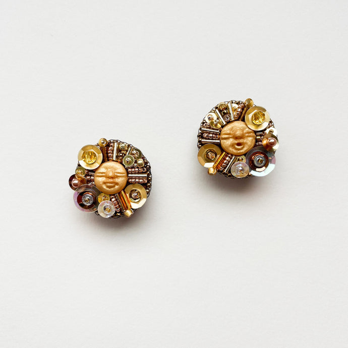 Beadass Medium Studs (I Love Arancini)