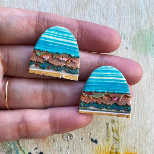 Mini Textured Tac(tile)-Man Statement Studs (The View From My Secret Treehouse)