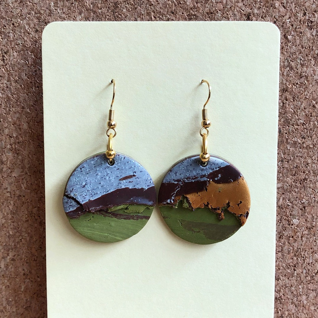 Textured Single Dangles (The Second Geography Lesson)