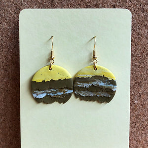 Textured Single Dangles (If You Like Pina Coladas)
