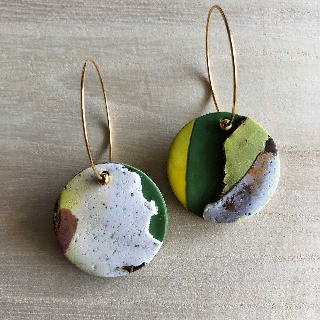 Textured Single Dangles (The First Geography Lesson)
