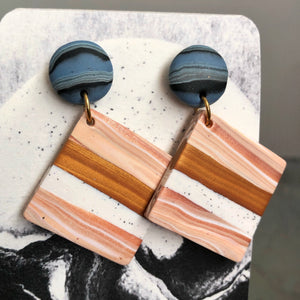 Clay Stud Single Dangles (Ham Sandwich & A Blueberry)