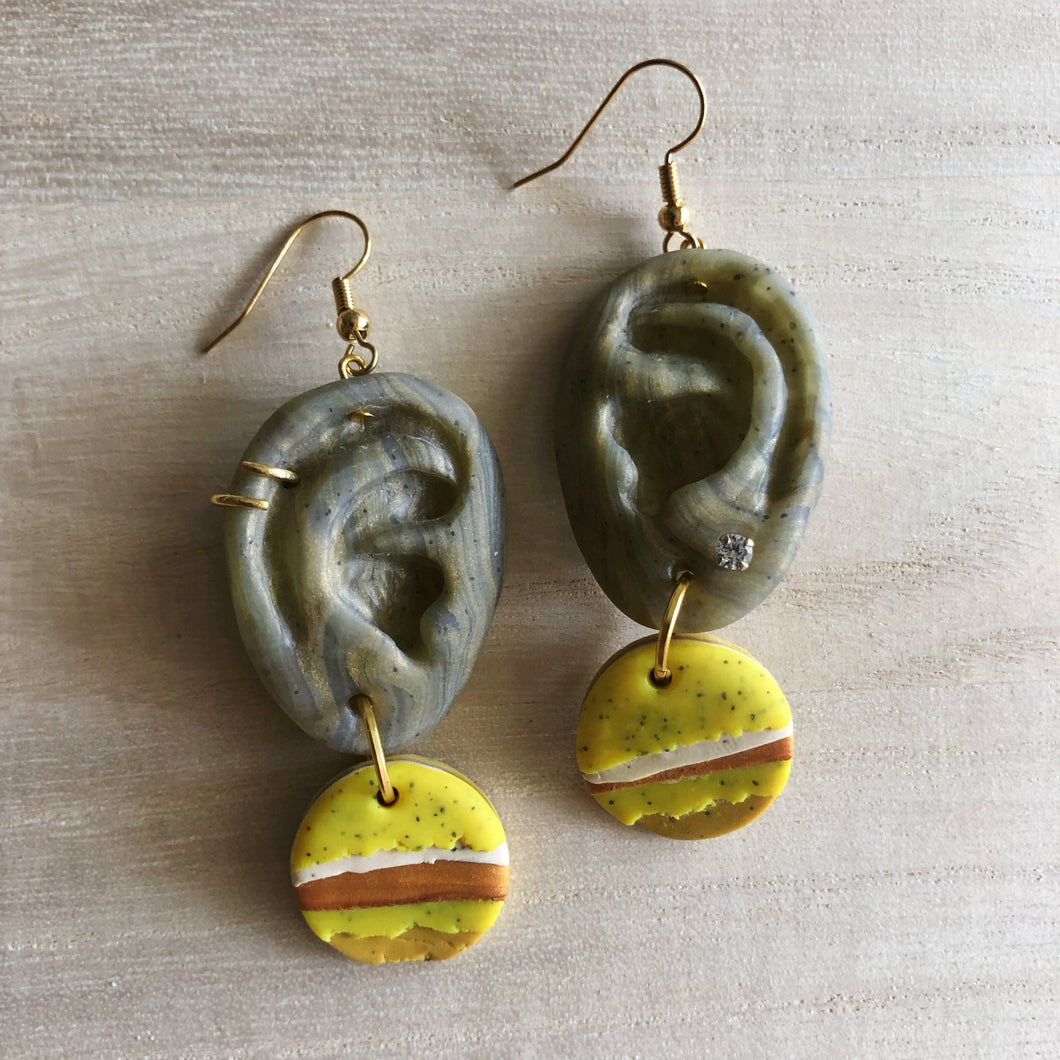Statement Dangle Hearrings (Ear-ning For You)