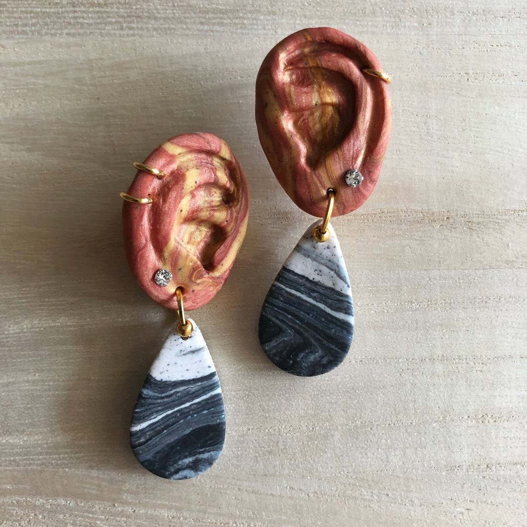 Statement Dangle Hearrings (Don't Give In To Ear Pressure)