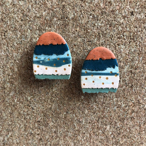 Textured Tac(tile)-Man Statement Studs (Where's The Easter Bunny?)