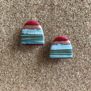 Textured Tac(tile)-Man Statement Studs (Sunburnt & Wrapped In A Towel)