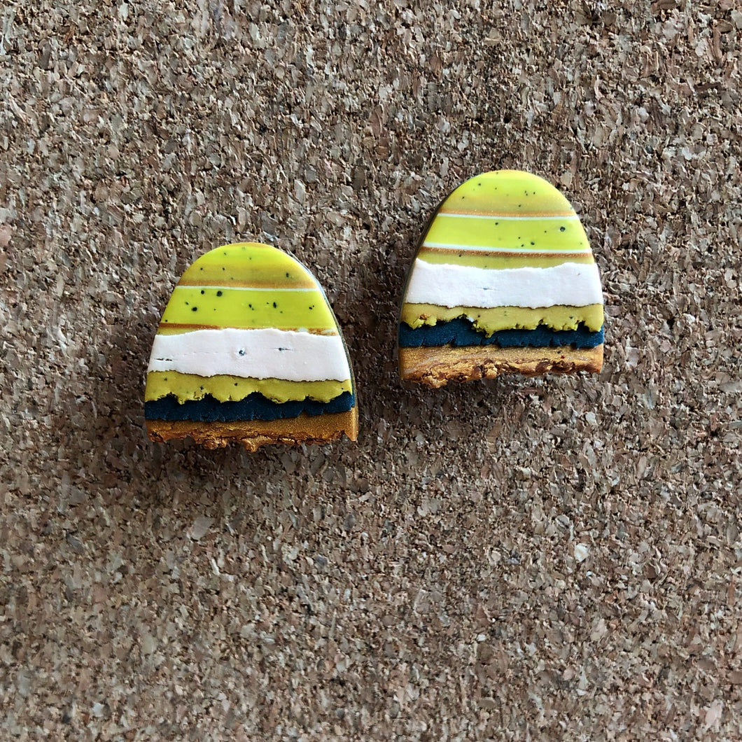 Textured Tac(tile)-Man Statement Studs (That Blue Cheese Burger)