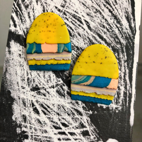 Maxi Textured Tac(tile)-Man Statement Studs (Always Pepper Your Egg Yolks!)