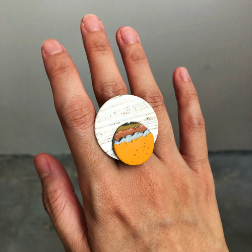 Millennial Falcon Statement Ring (A Tatooine Sunset)